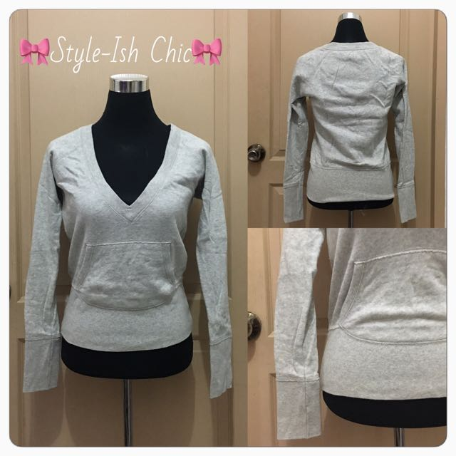 👚Low Neck Longsleeve with Front Pocket🎀😊