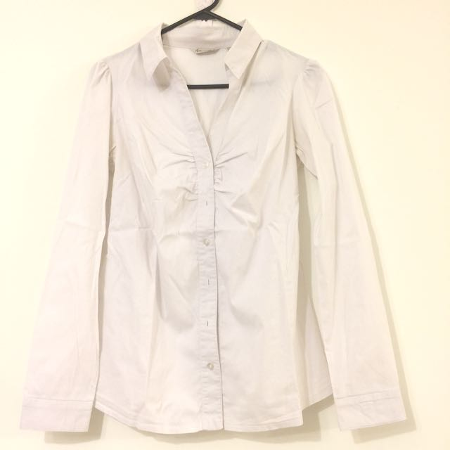 Maternity Blouse, White, Size S