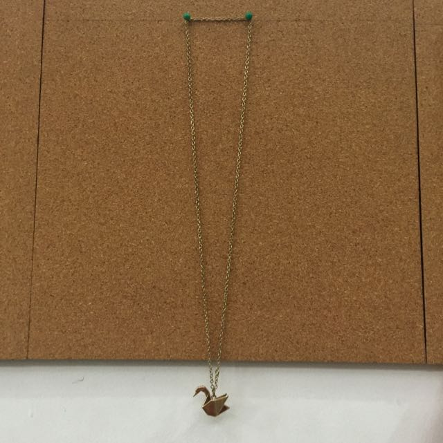 Medium To Long Gold Swan Necklace
