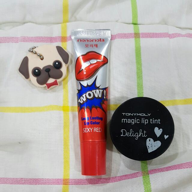 PL - Paket Monomola Lip Tattoo dan Tonymoly Lip Tint