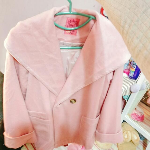 Pink粉紅保暖外套