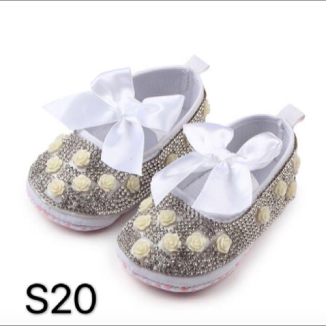Prewalker Baby Shoes Ivory Rose