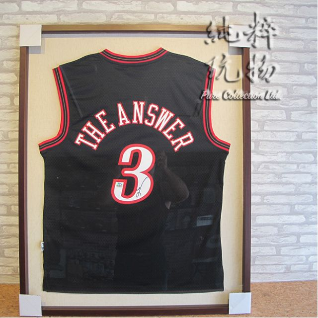 ☆Pure Collection☆ NBA Allen Iverson The Answer 親簽球衣 (附證書+裱框)
