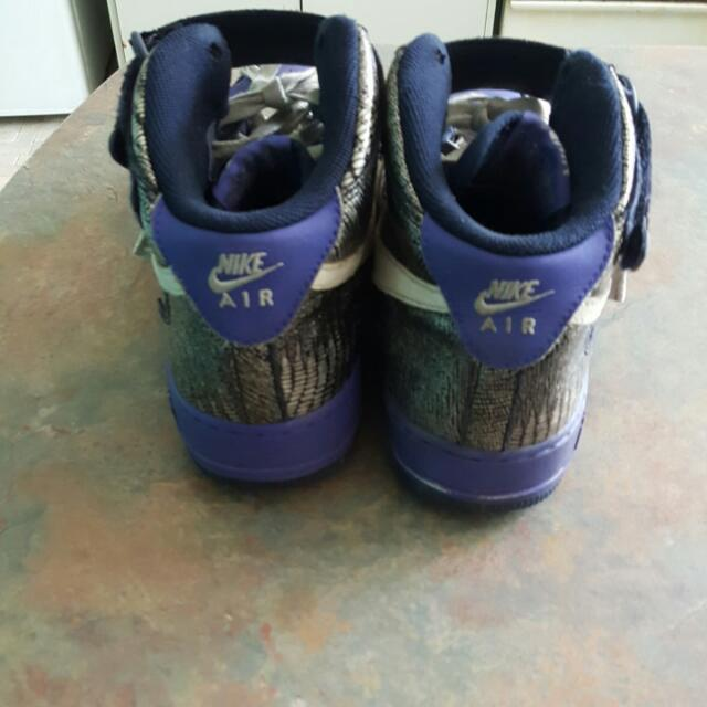 Purple Nike Air Force Shoes