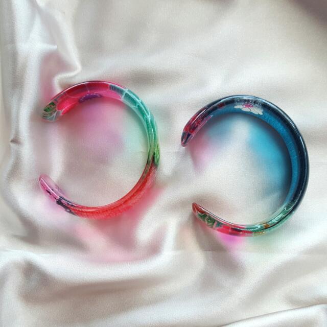 Resin Bracelets (Set Of 2)