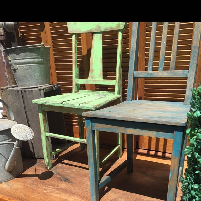 Rustic Vintage Timber Outdoor Chairs