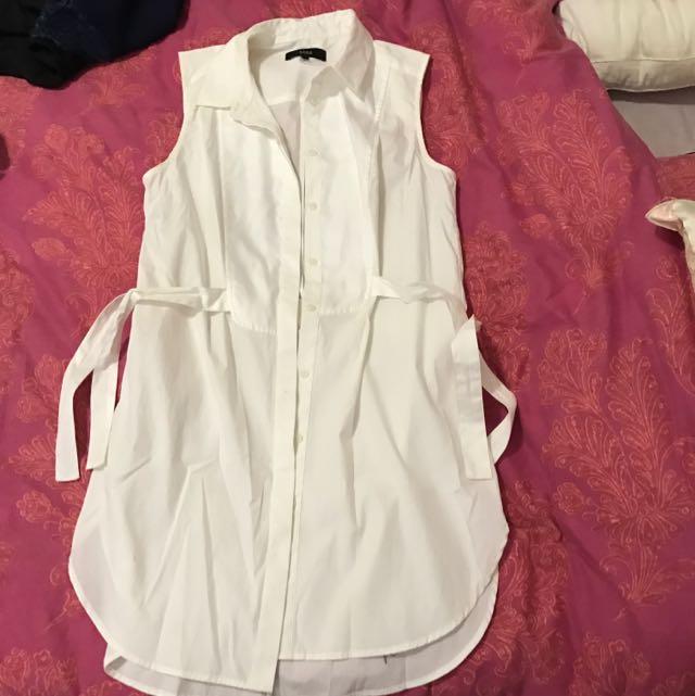 Saba White Shirt Dress Size 6