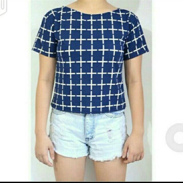 SALE!!! Blue Cross Top 😊