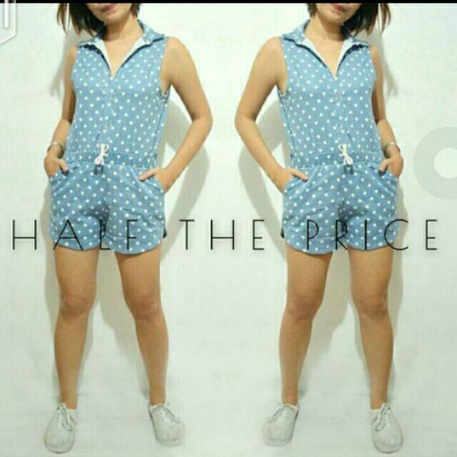 SALE!!! Blue Heart Printed Romper 😊