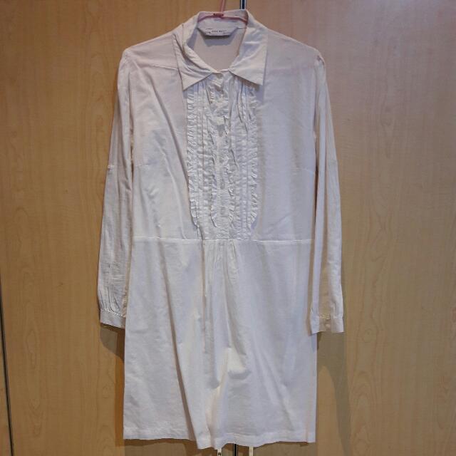 Shirt Dress Putih ZARA