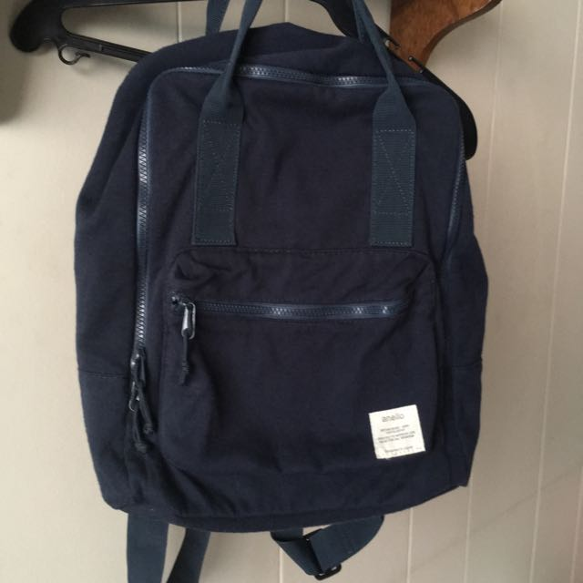 [USED] Anello Dark Blue Lightweight Canvas Backpack