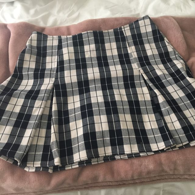 SUBTITLED GENERAL PANTS PLEATED CHECKERED SKIRT