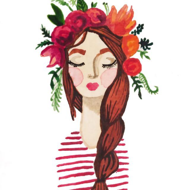 Summer Illustration Of A Girl 💁🏼