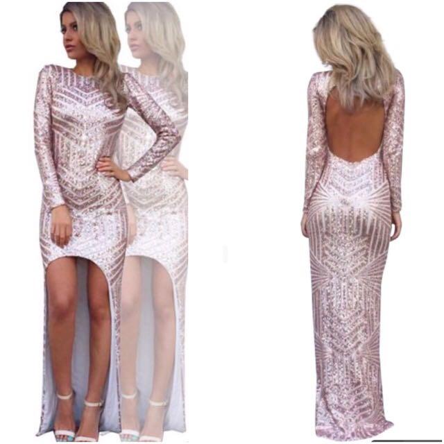 Urgent Sale- Rose Gold Sequin Dress