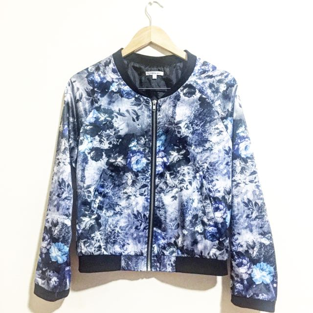 Valley Girl Floral Bomber Jacket