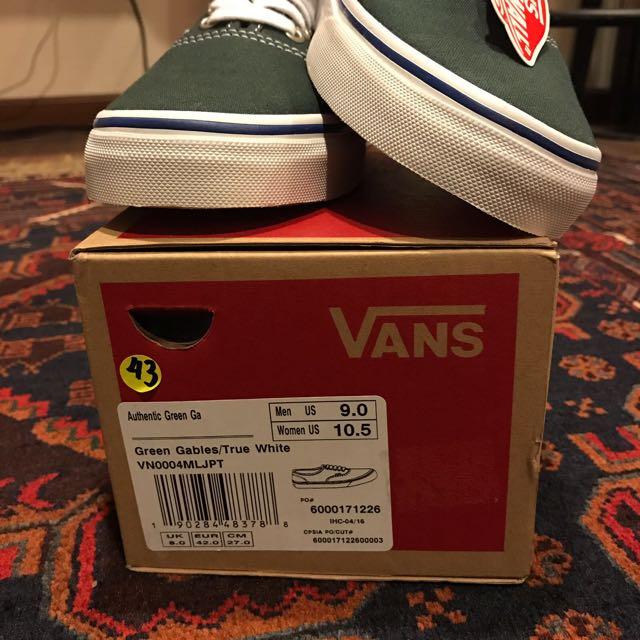 f75ea499154ebb Vans Authentic Green Gables (BNWB)