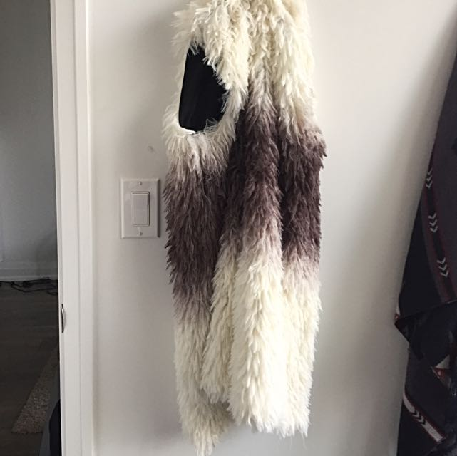 White And Grey Faux Fur Best