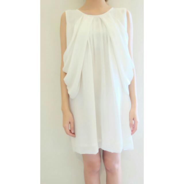 White Layered Dress