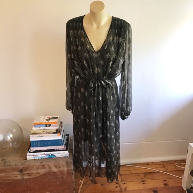 Zimmermann Karmic Stamp Smock Dress sz 3