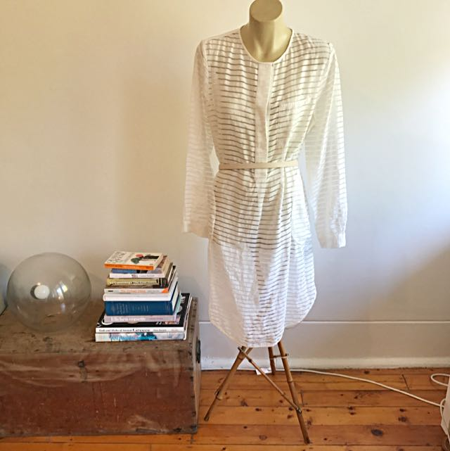 Zimmermann Ribbon Dress In White