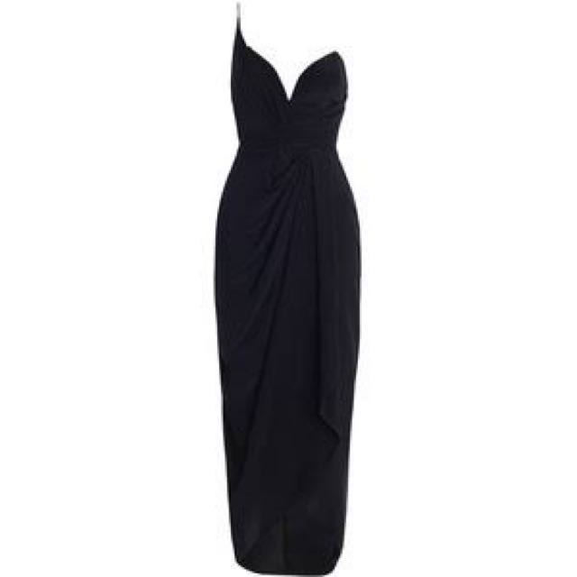 Zimmermann Silk Long One Shoulder Dress - Black