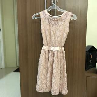 Nude lacy dress - repriced!