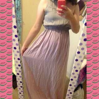 One Shoulder Ombré Dress