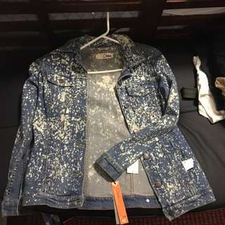 Boyfriend Acid Rain Denim Jacket