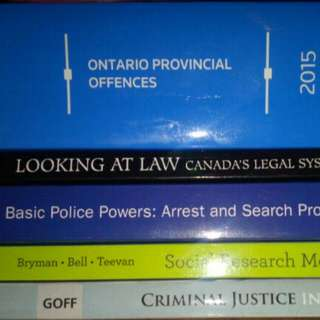 First And Second Year Justice Studies Textbooks University Of Guelph-humber