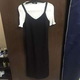 針織吊帶長裙