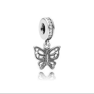 Pandora Butterfly Zirconia Dangle Charm