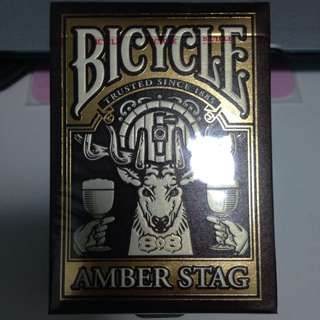 Bicycle Amber Stag Limited Edition Poker Cards