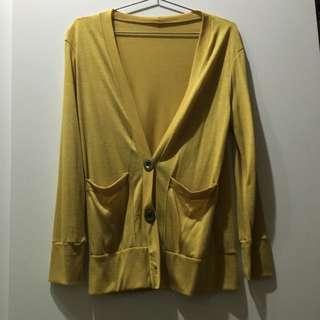 薄外套 深V造型 金黃