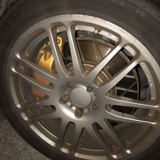 Prodrive rims with Tyres x 01 Set plus Throw In STI Lug Nuts. Deal Fast Before This Saturday