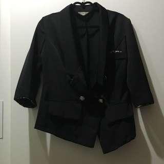 7分袖 西裝外套 深V