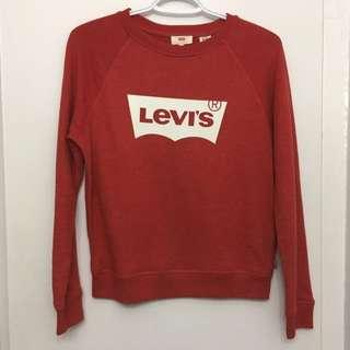 Red Levi's Crew Neck