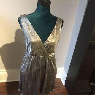 Silver Lamé Dress