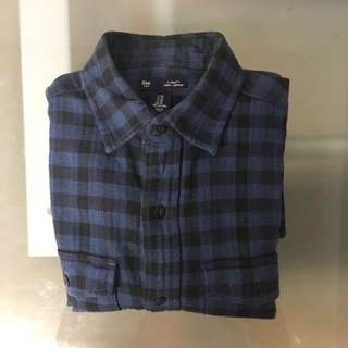 Gap Winter Gingham XS Shirt