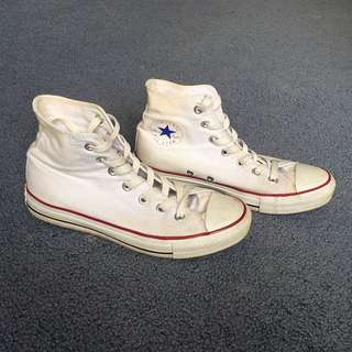 White Chuck Taylor's (High Top)