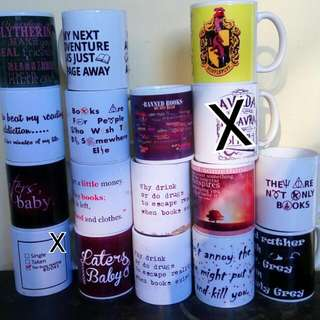 FREEEEE!!! Get 1 Free Book Inspired Mug For Orders 2k And Above!  Check My Other Ads To Know The Books For Sale