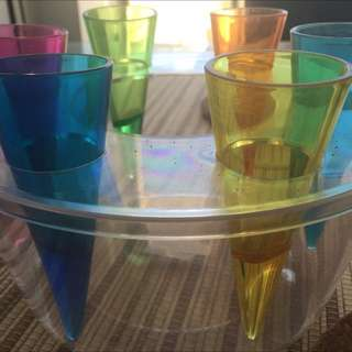 Rainbow / Multi Colored Shot Glasses