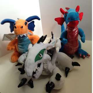 Dragon Plushes. Buy one or buy all! SMOKE FREE HOME!!!