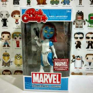 Funko Pop Mystique Rock Candy MCC Exclusive Vinyl Figure Collectible Toy Gift Movie X-men Marvel Collector Corps