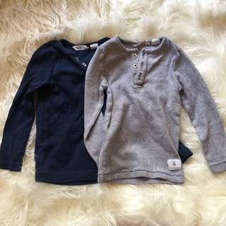 Set Of 2 Country Road Baby Long Sleeve Tops