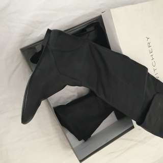 Women's Long Black Boots, Size 41
