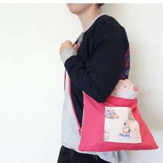 Winnie the Pooh reversible tote bag