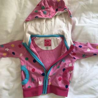 Brand New Pink Spotty With Hood Sweat TOP - Brand Is British Make Joules