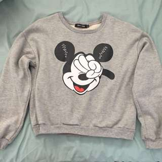 Grey Mickey Mouse Jumper