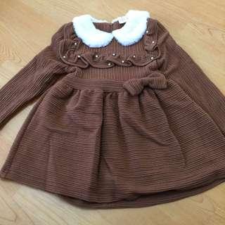 韓版內裏舖絨洋裝