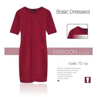 Forever 21 Basic Dress Maroon (Limited Stock)